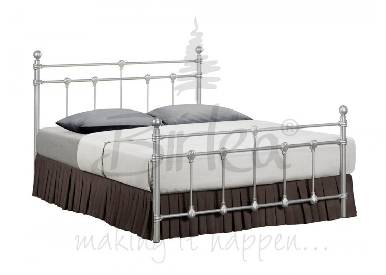Birlea Atlas Bed Frame 4ft Small Double Silver Metal Bed