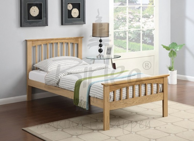 Birlea Saunton 3ft Single Solid Oak Bed Frame By Birlea