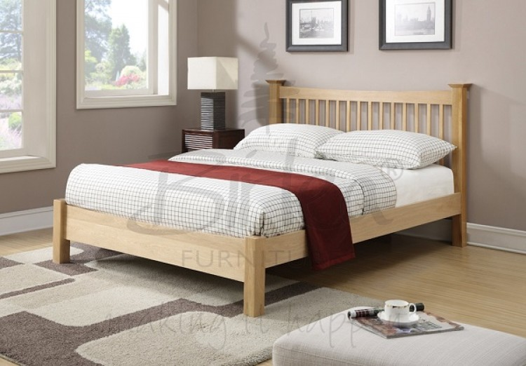 birlea kimberley 4ft small double solid oak bed frame - Oak Bed Frame