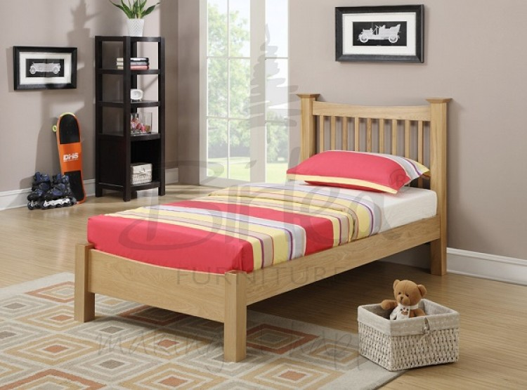 Birlea Kimberley 3ft Single Solid Oak Bed Frame By Birlea