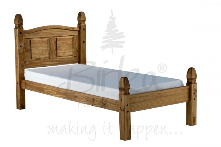 Birlea Corona 3ft Single Pine Bed Frame with Low Footend by Birlea
