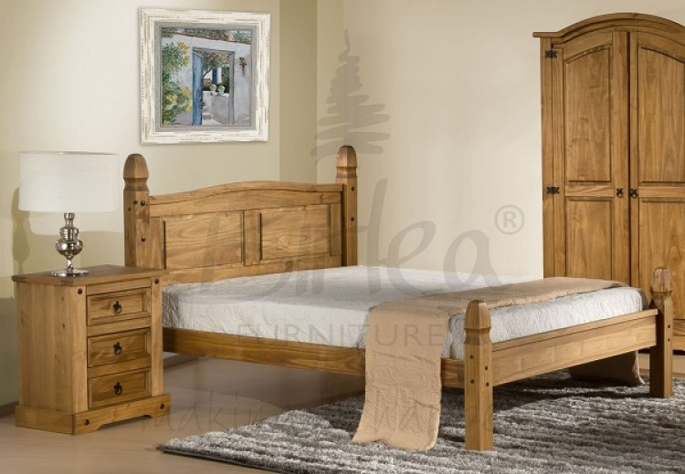 Birlea Corona 5ft King Size Pine Bed Frame with Low ...