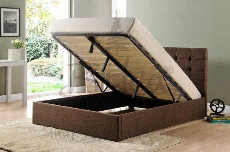 birlea isabella 6ft super king size brown upholstered fabric ottoman bed frame by birlea. Black Bedroom Furniture Sets. Home Design Ideas