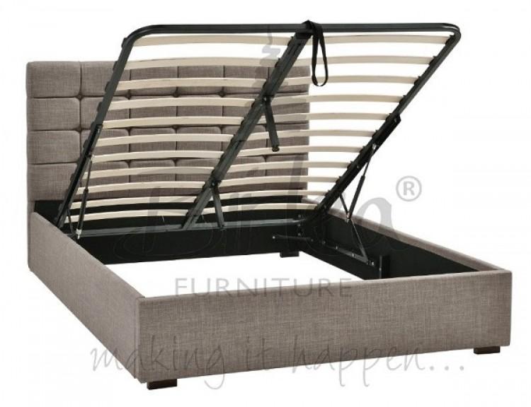 birlea isabella 4ft6 double grey upholstered fabric. Black Bedroom Furniture Sets. Home Design Ideas