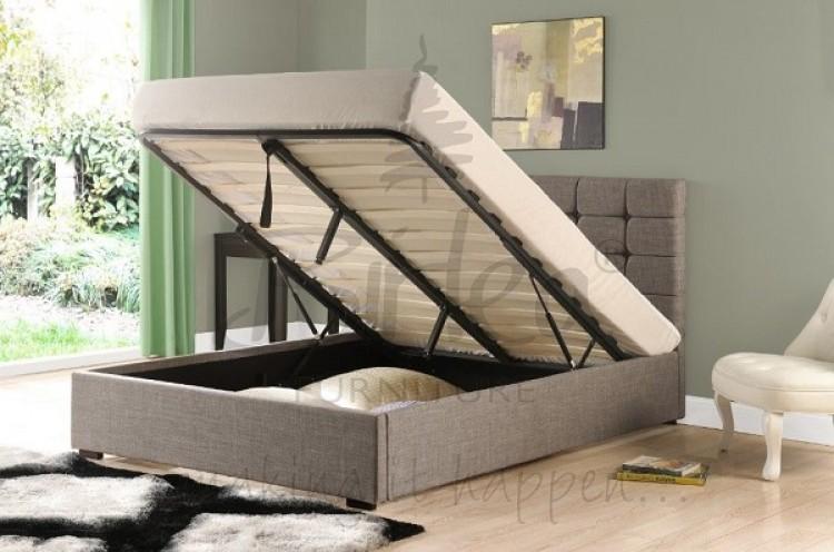 birlea isabella 6ft super king size grey upholstered. Black Bedroom Furniture Sets. Home Design Ideas