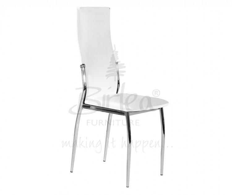 Birlea Croydon Glass Dining Table Set With Four Chairs White By Birlea