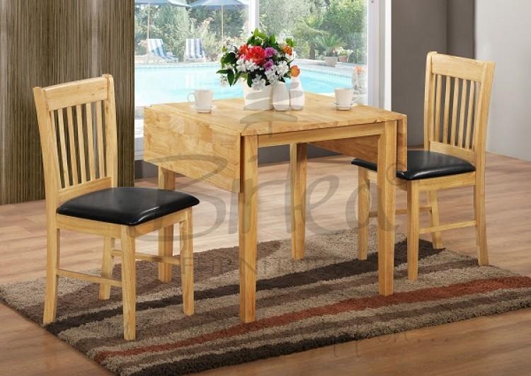 Birlea Oxford Oak Finished Drop Leaf Dining Table Set with ...