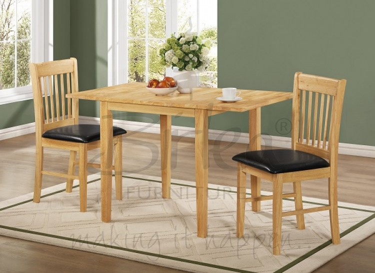 Birlea oxford oak finished drop leaf dining table set with two chairs by birlea - Drop leaf table and chairs uk ...