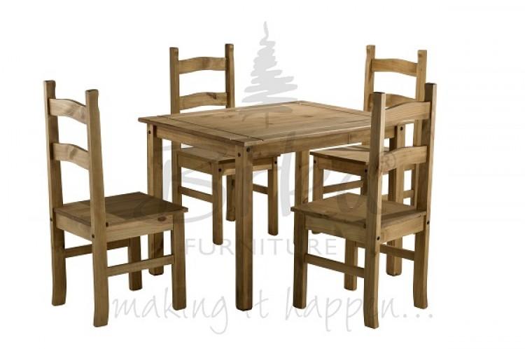 Pine Dining Table Set: Birlea Corona Budget Pine Dining Table Set With 4 Chairs