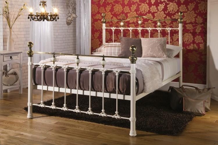 Limelight Knightsbridge 5ft Kingsize Ivory Metal Bed Frame By Beds