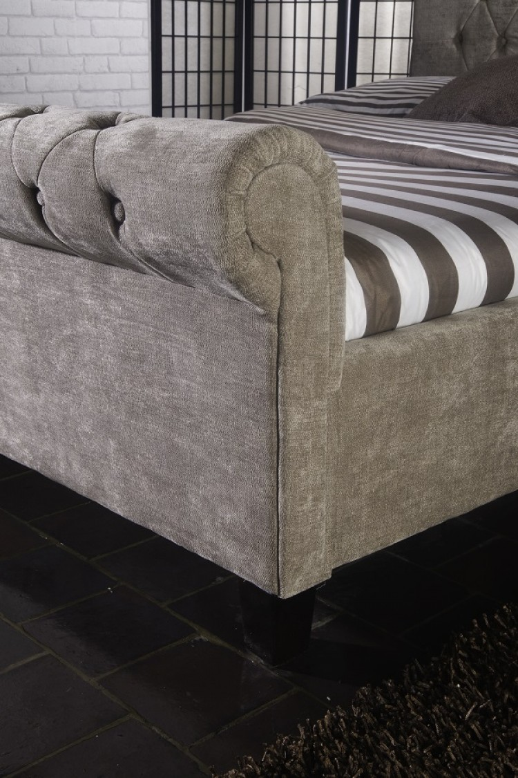 Limelight Orbit 5ft Kingsize Mink Velvet Fabric Bed Frame