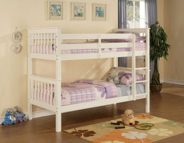 limelight pavo white wooden bunk bed by limelight beds