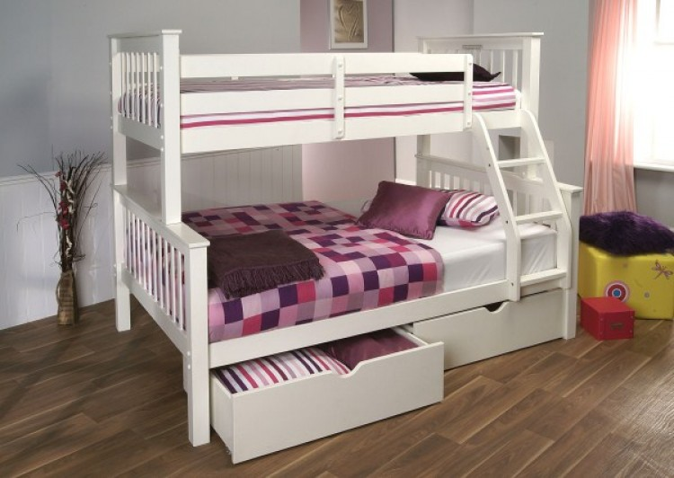 Limelight Pavo White Wooden High Triple Sleeper By Limelight Beds