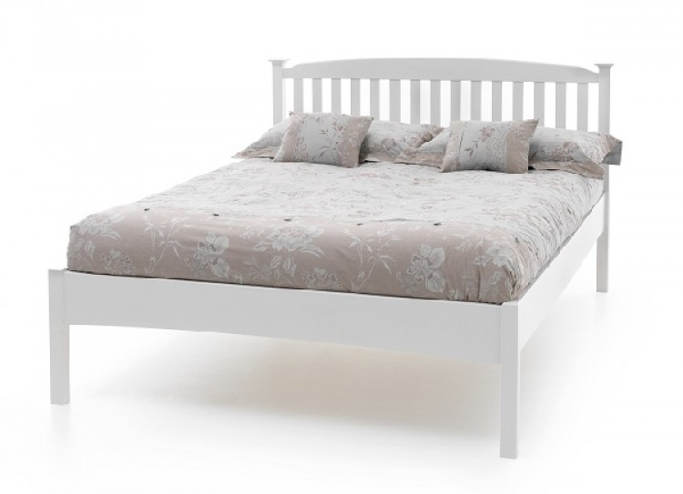 Serene Eleanor 4ft Small Double White Wooden Bed Frame With Low Footend By  Serene Furnishings