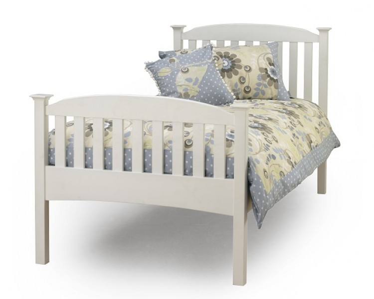 Serene eleanor 3ft single white wooden bed frame with high footend by serene furnishings - Different bed frames ...