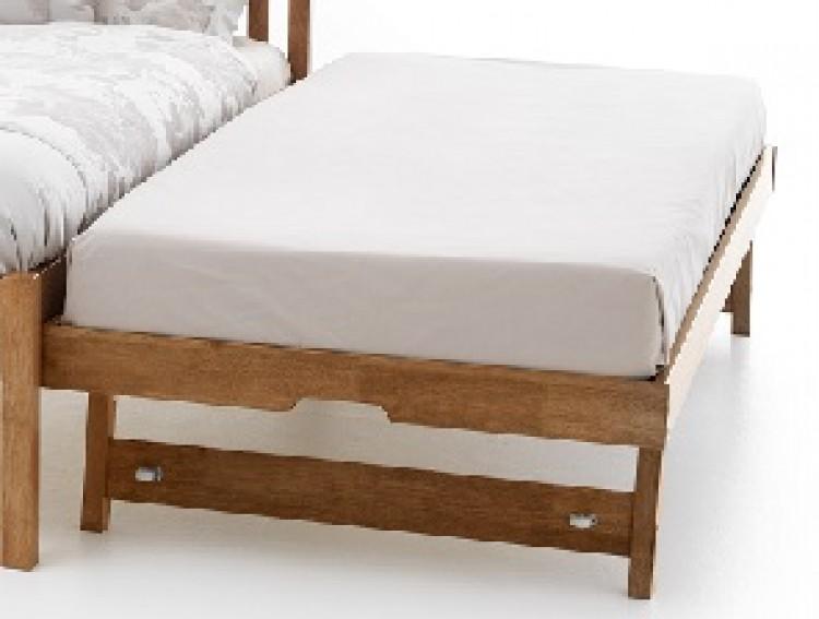 serene guest trundle underbed wooden frame 3ft single oak by serene furnishings. Black Bedroom Furniture Sets. Home Design Ideas