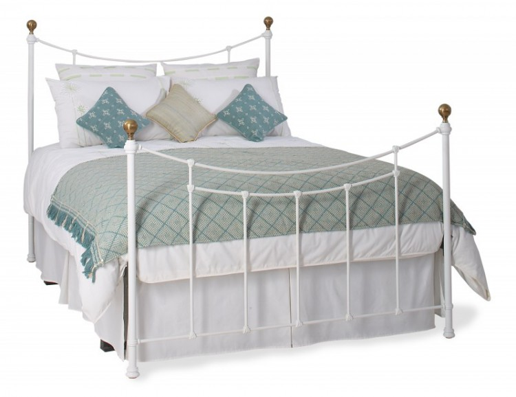 Obc Virginia 4ft 6 Double Satin White Metal Bed Frame By Original