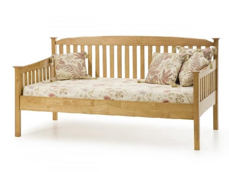 Serene Eleanor 3ft Single Oak Wooden Day Bed Frame by Serene Furnishings