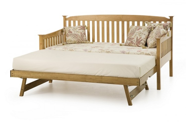 serene eleanor 3ft single oak wooden day guest bed frame. Black Bedroom Furniture Sets. Home Design Ideas