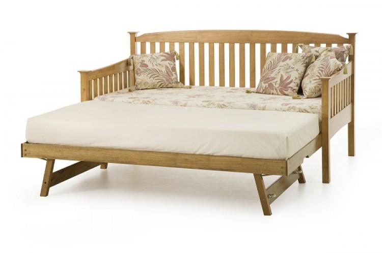 serene eleanor 3ft single oak wooden day guest bed frame. Black Bedroom Furniture Sets. Home Design Ideas