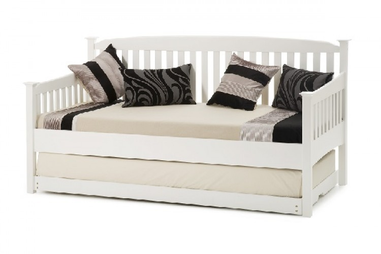 Serene Eleanor 3ft Single White Wooden Day Guest Bed Frame