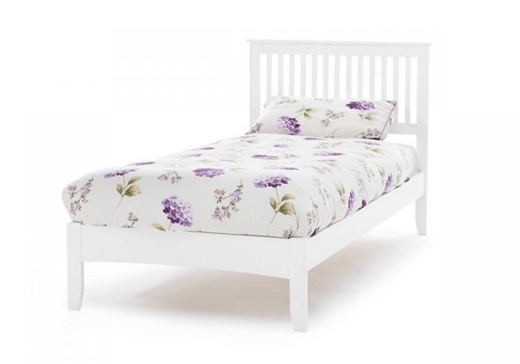White Metal Single Bed Frame