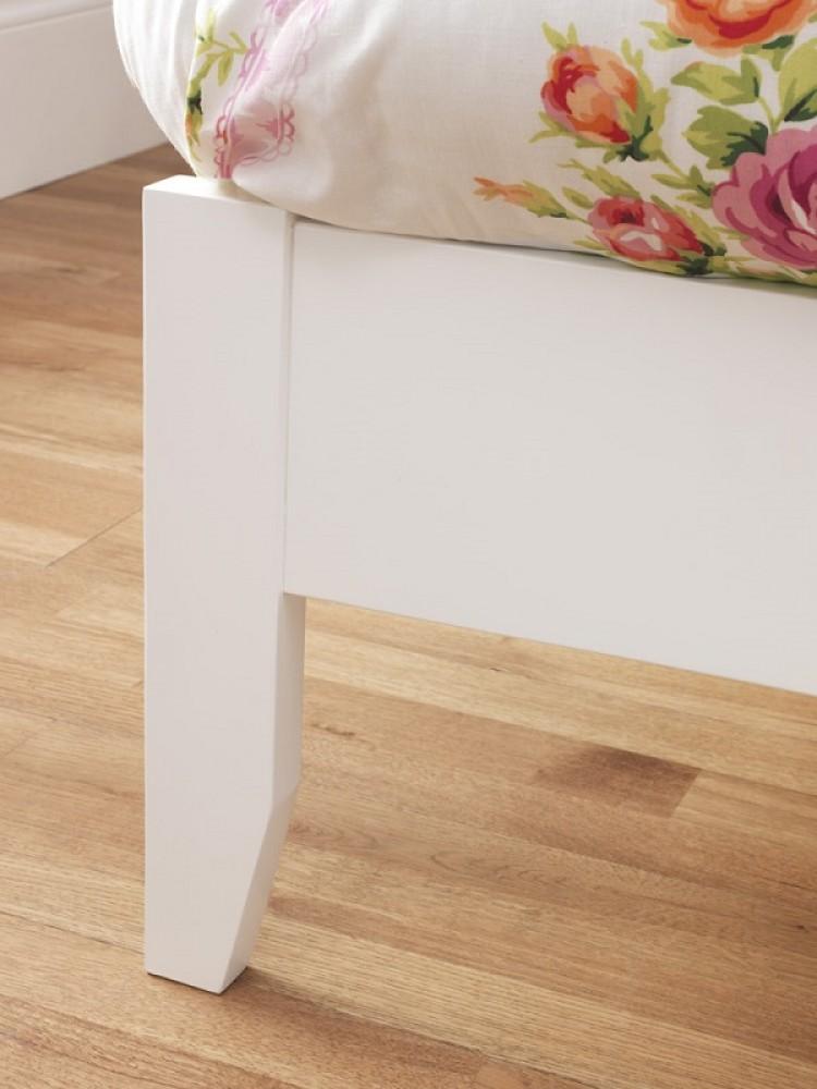 Serene Freya 3ft Single White Wooden Bed Frame by Serene Furnishings 750 x 1000