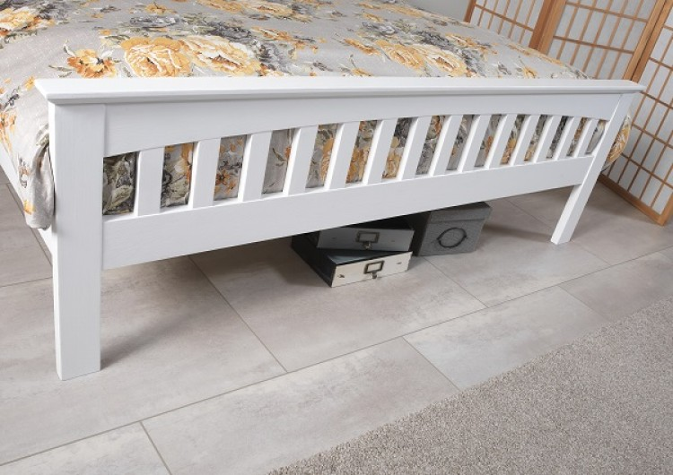 amelia 4ft small double white wooden bed frame by serene furnishings making a platform bed