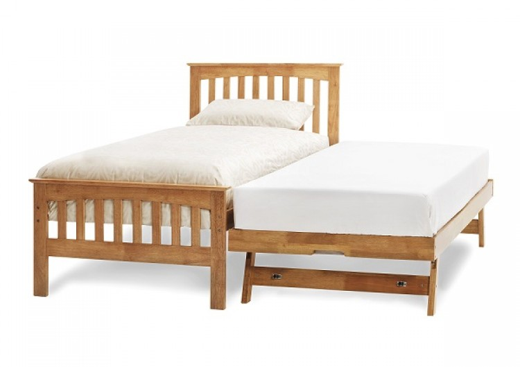 Serene Amelia 3ft Single Oak Wooden Guest Bed Frame By