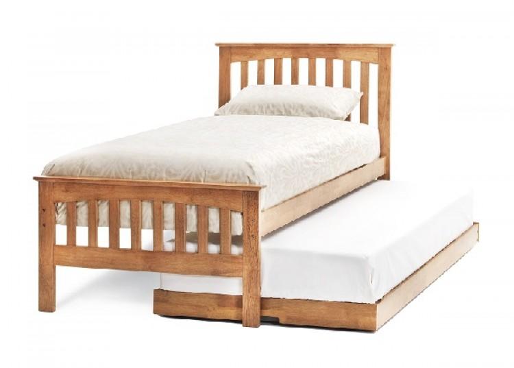 Ihram Kids For Sale Dubai: Serene Amelia 3ft Single Oak Finish Wooden Guest Bed Frame