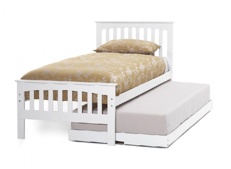 Serene Amelia 3ft Single White Wooden Guest Bed Frame By Serene