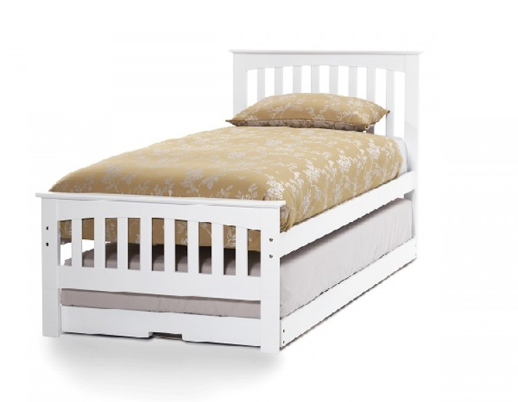 Serene Amelia 3ft Single White Wooden Guest Bed Frame 750 x 583