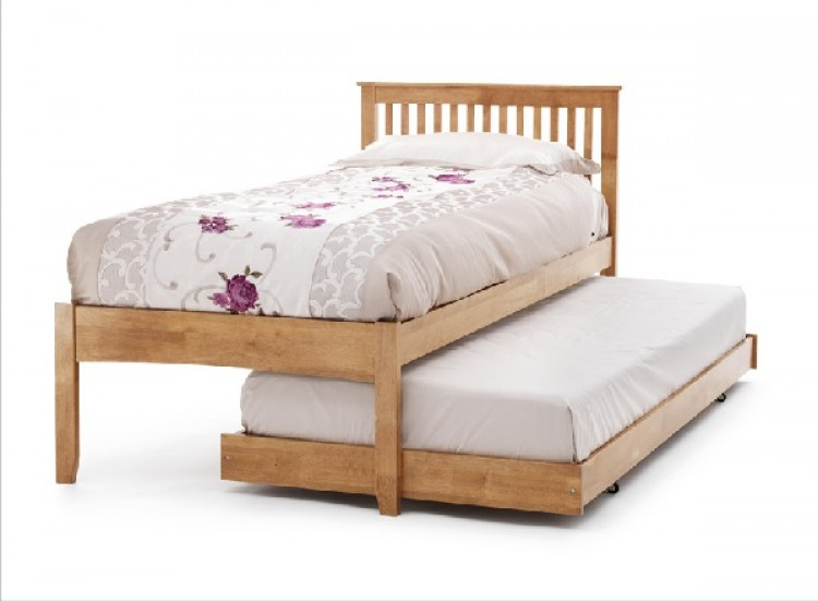 Serene Freya 3ft Single Oak Wooden Guest Bed Frame By