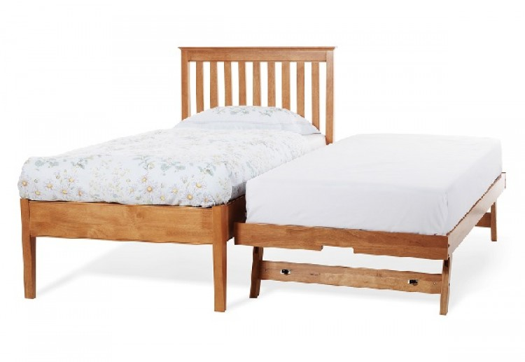 serene grace 3ft single cherry wooden guest bed frame with low foot end by serene furnishings. Black Bedroom Furniture Sets. Home Design Ideas