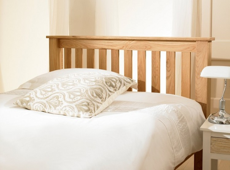 Emporia Monaco 5ft Kingsize Solid Oak Ottoman Bed Frame By