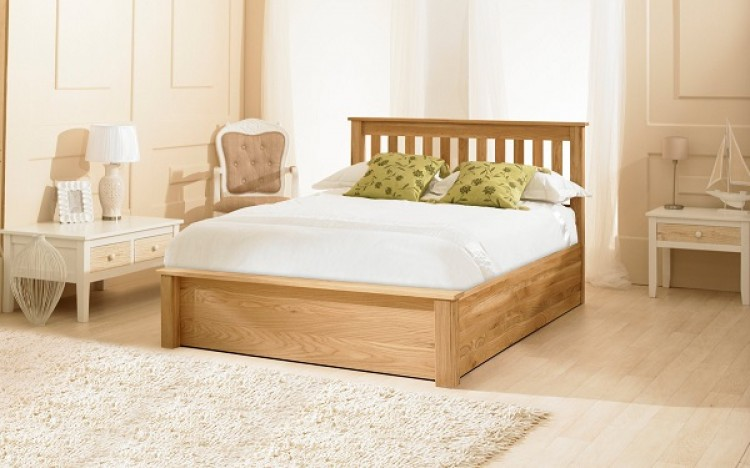 Emporia Monaco 6ft Super Kingsize Solid Oak Ottoman Bed Frame By
