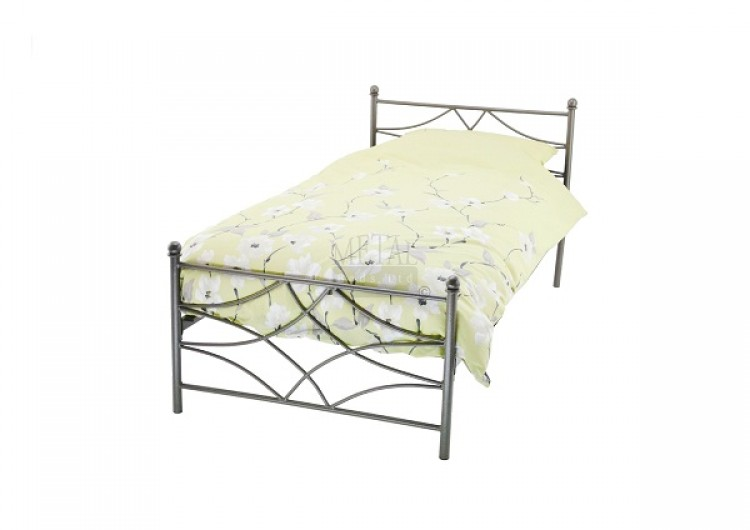 metal beds nippon 3ft 90cm single graphite grey metal bed frame by