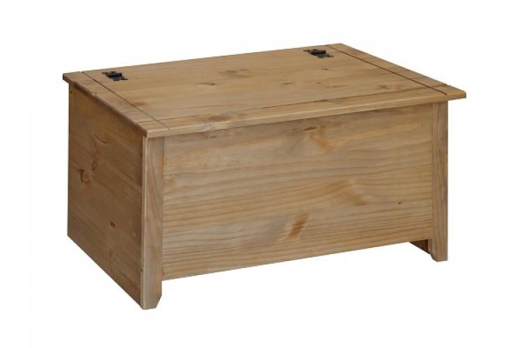 Ottomans Richmond Pine Ottoman: Core Mexican Pine Ottoman Blanket Box By Core Products