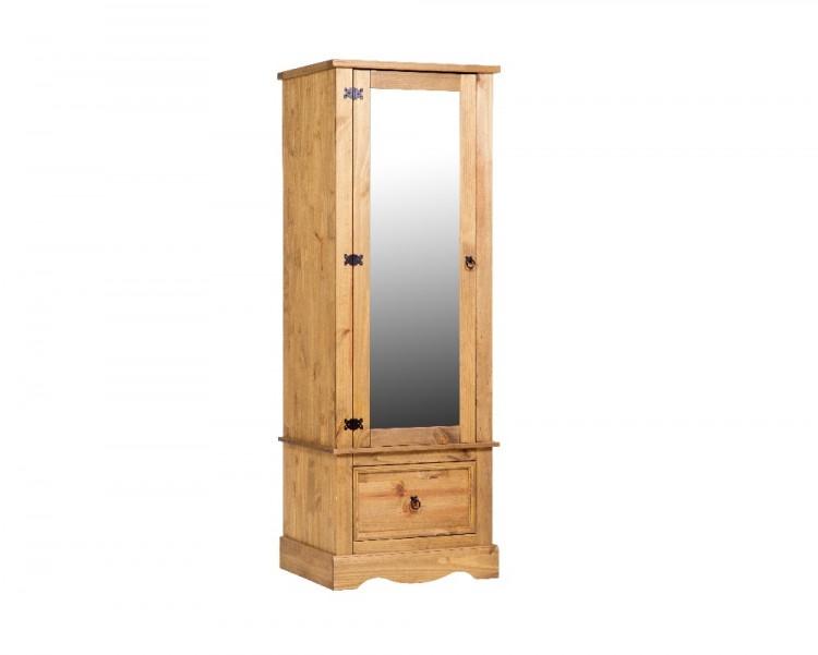 Core Corona Pine Single Mirror Door Wardrobe By Core Products
