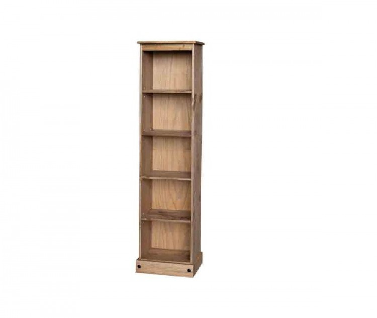 Core Corona Pine Tall Narrow Bookcase By Core Products