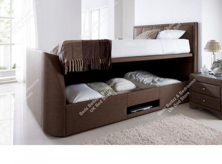 Awe Inspiring Kaydian Windermere 6Ft Super Kingsize Cappucino Fabric Tv Andrewgaddart Wooden Chair Designs For Living Room Andrewgaddartcom