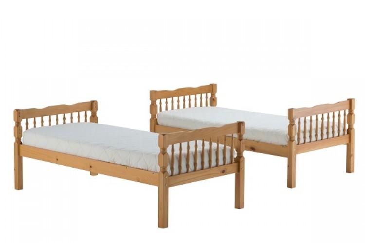 Birlea Weston 3ft Single Wooden Pine Bunk Bed Frame