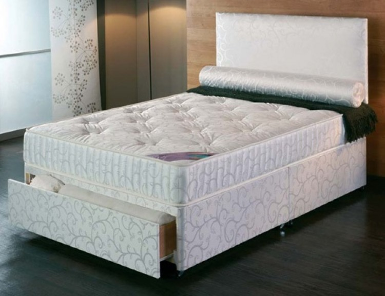 Repose celina 2ft6 small single divan bed by repose for The range divan beds