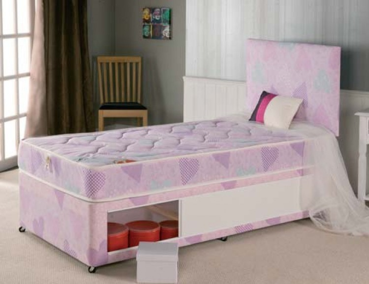 Repose sweetheart 3ft single divan bed by repose for 3 foot divan bed