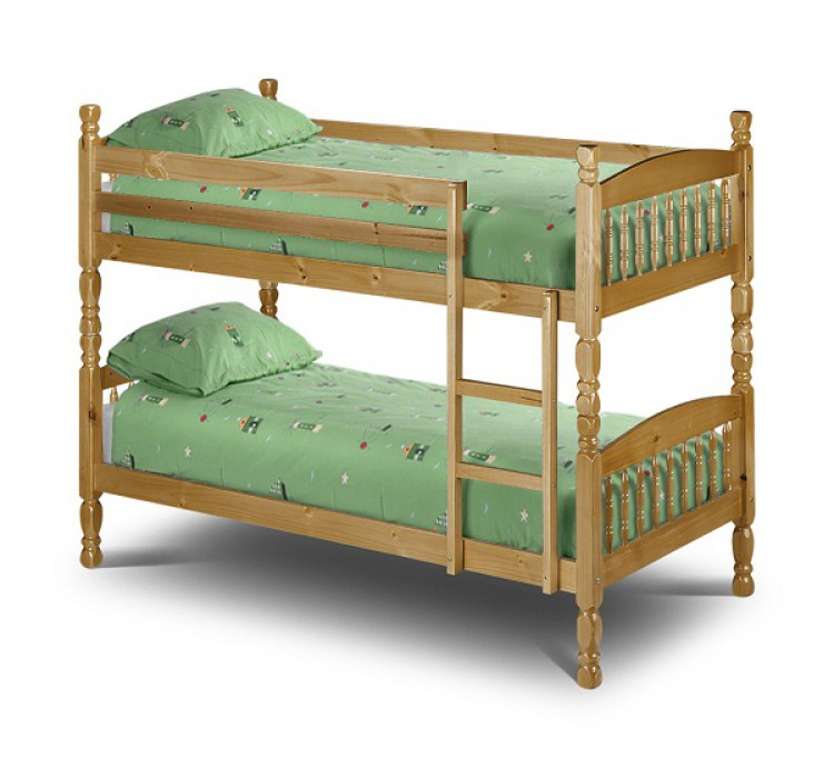 Julian Bowen Lincoln 2ft6 Small Single Pine Bunk Bed By Julian Bowen