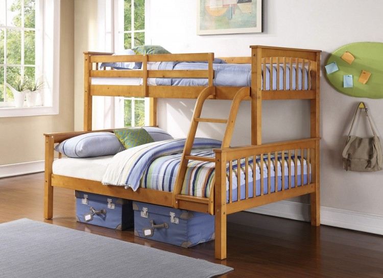 gfw novaro pine wooden trio triple sleeper bunk bed by gfw. Black Bedroom Furniture Sets. Home Design Ideas