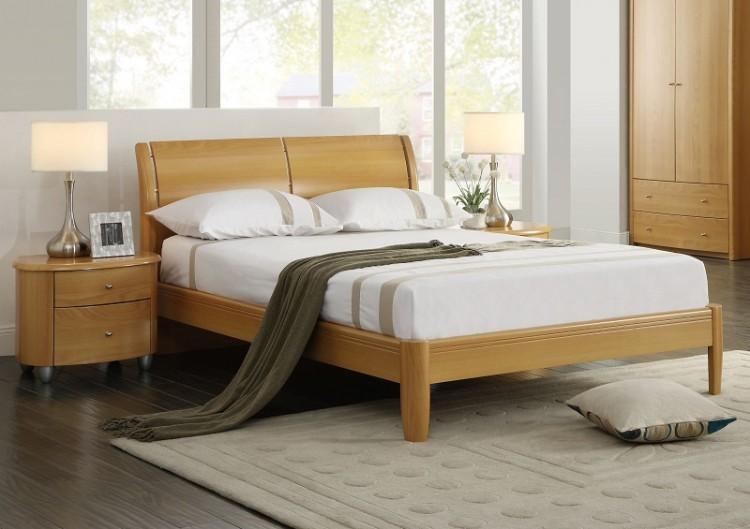 Birlea Aztec Beech 4ft6 Double Wooden Bed Frame By Birlea