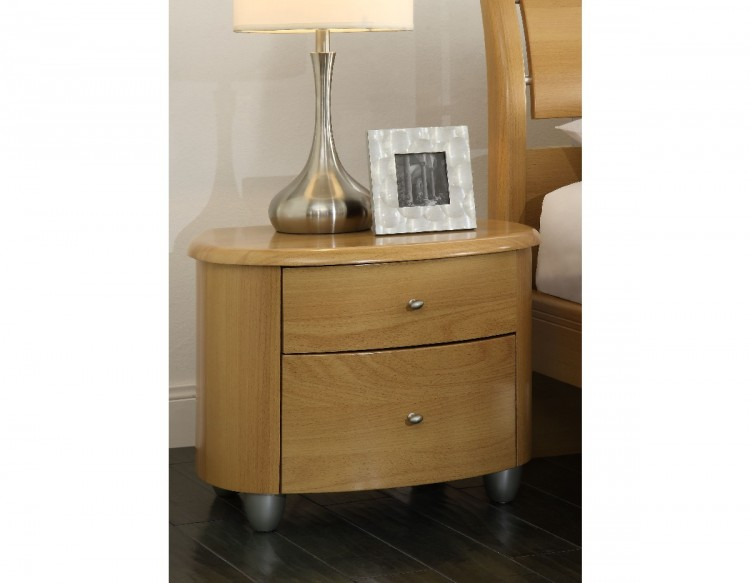 birlea aztec beech 2 drawer nightstand by birlea