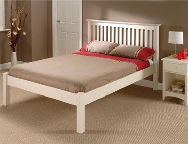 julian bowen barcelona low foot end stone white 4ft6. Black Bedroom Furniture Sets. Home Design Ideas