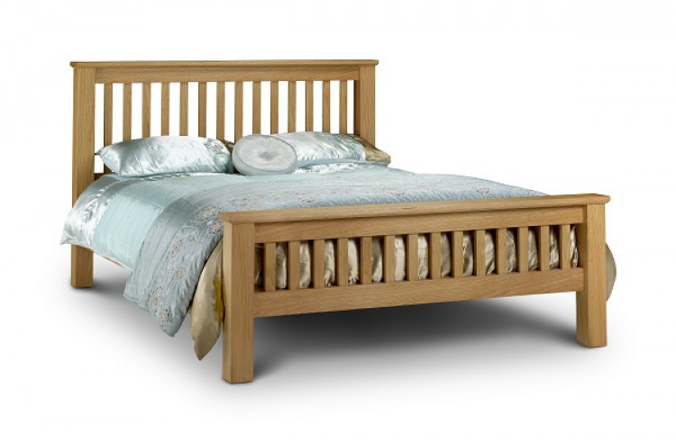 Julian Bowen Amsterdam 6ft Super Kingsize Oak Bed Frame High Foot